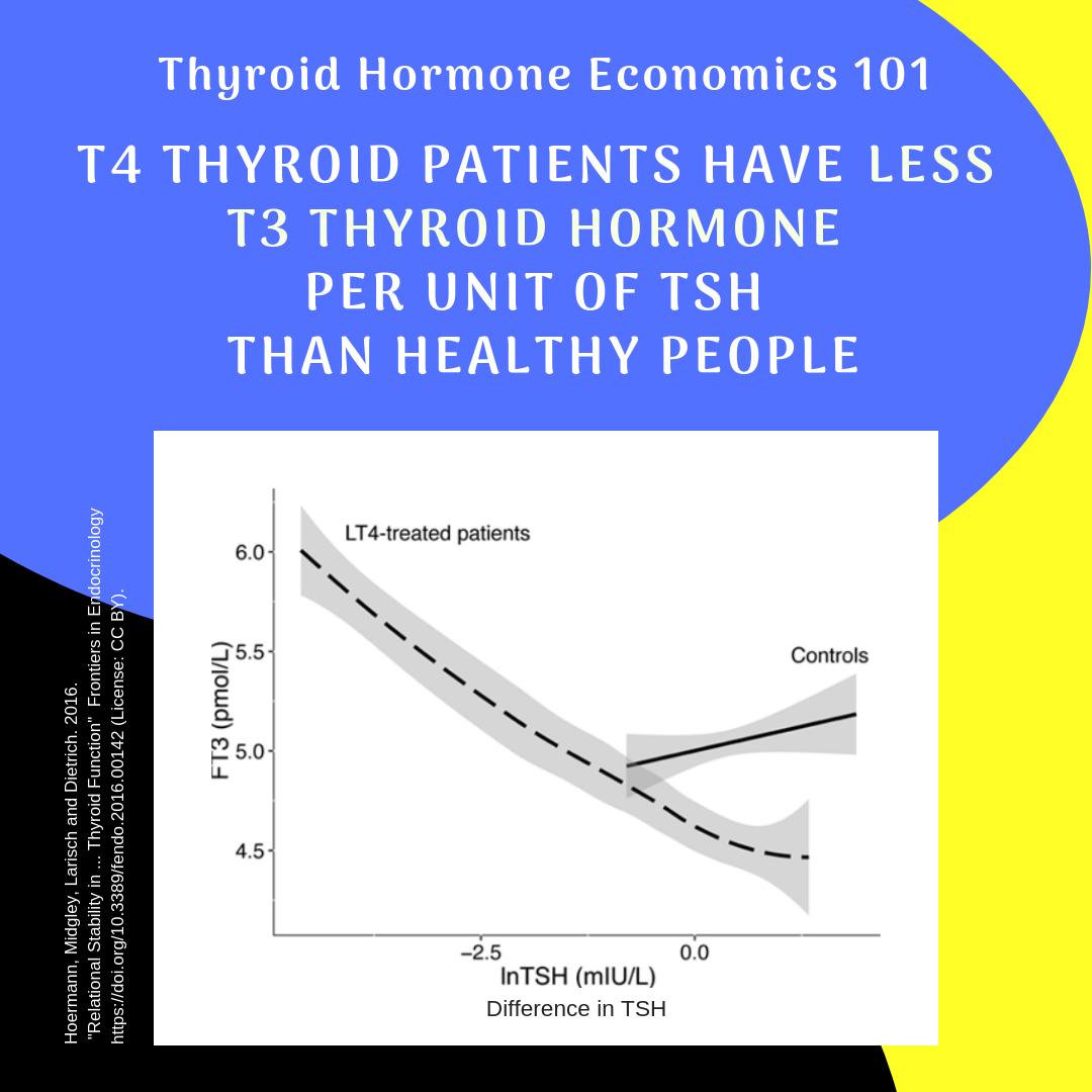 Thyroid Hormone Economics 101 Less Ft3 Per Unit Of Tsh Thyroid